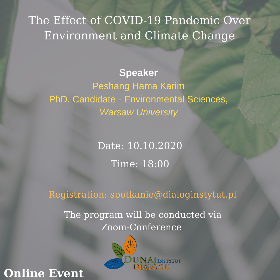 The effect of the COVID-19 pandemic over Environment and Climate Change